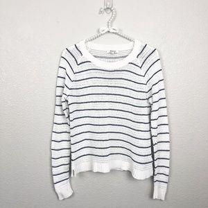 Madewell Open Knit Sweater Crew Striped sz S